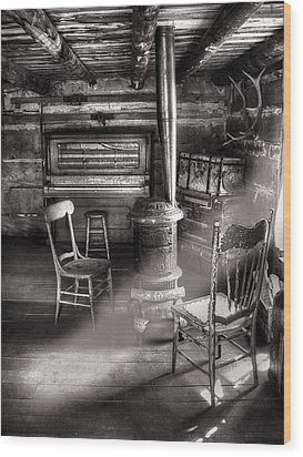 The Piano Room Wood Print by Ken Smith
