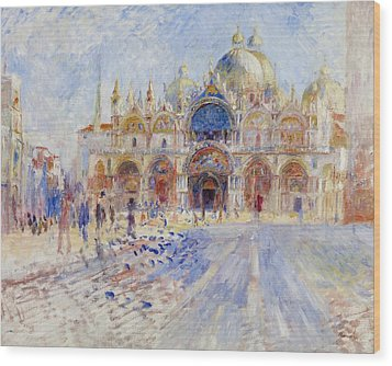 The Piazza San Marco Wood Print by Pierre Auguste Renoir
