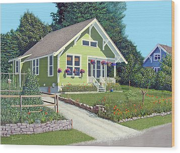 Our Neighbour's House Wood Print by Gary Giacomelli