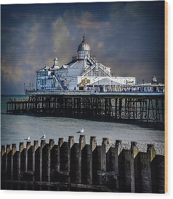 The Pier At Eastbourne Wood Print by Chris Lord