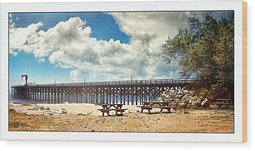 Wood Print featuring the photograph The Pier At Gaviotta by Steve Benefiel