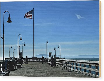 Wood Print featuring the photograph The Pier by Michael Gordon