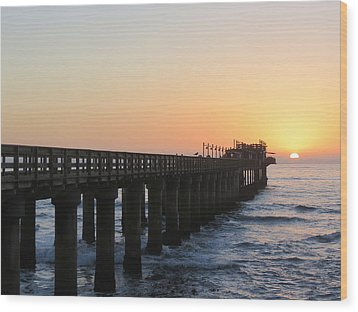 Wood Print featuring the photograph The Pier by Ramona Johnston