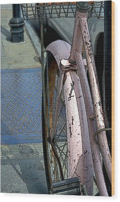 Wood Print featuring the photograph The Pink Bicyclette by Nadalyn Larsen