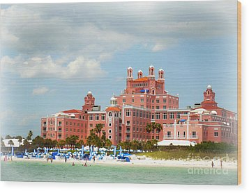 The Pink Palace Wood Print by Valerie Reeves
