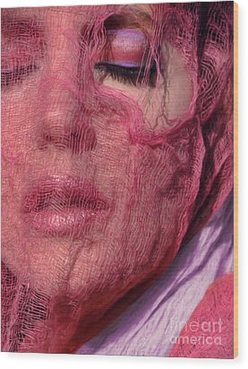 The Pink Scarf Wood Print by Jeff Breiman
