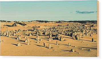 Wood Print featuring the photograph The Pinnacles Australia by Yew Kwang