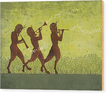 The Pipers 3 Wood Print by Dennis Wunsch