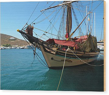 The Pirate Ship  Wood Print