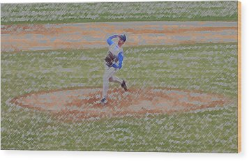 The Pitcher Digital Art Wood Print by Thomas Woolworth