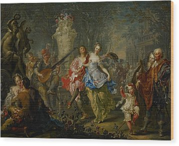 The Pleasures Of The Seasons     Spring Wood Print by Johann Georg Platzer