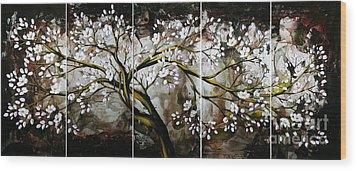 The Plum Blossom 001 Wood Print by Willson Lau