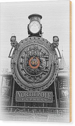 The Polar Express - Steam Locomotive Iv Wood Print by Lee Dos Santos