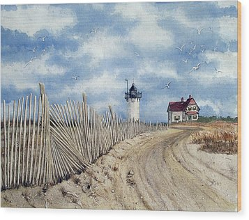 The Pole Line To Race Point Light Wood Print