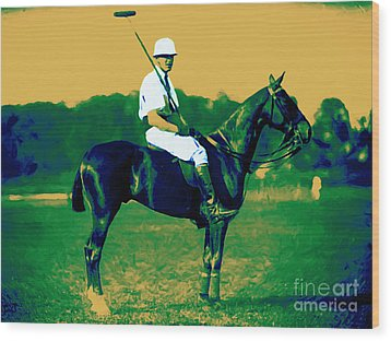 The Polo Player - 20130208 Wood Print by Wingsdomain Art and Photography