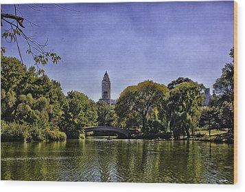 The Pond - Central Park Wood Print by Madeline Ellis
