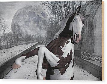 The Pony Express Wood Print by Betsy Knapp