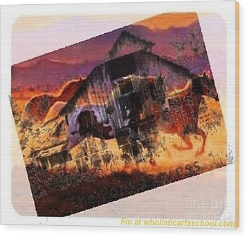 The Pony Express Wood Print by PainterArtist FIN
