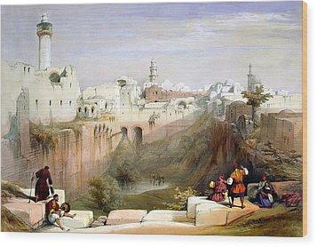 The Pool  Of Bethesda Jerusalem Wood Print by Munir Alawi