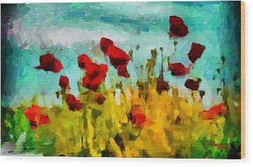 The Poppy Field Tnm Wood Print by Vincent DiNovici
