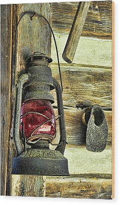 The Porch Light Wood Print by Jan Amiss Photography