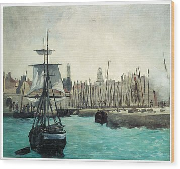 The Port At Calais Wood Print by Edouard Manet