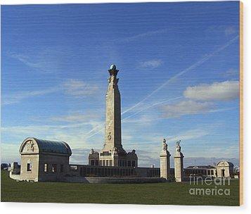 The Portsmouth Naval Memorial Southsea Wood Print by Terri Waters