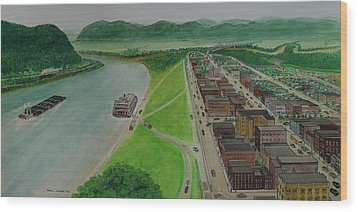 The Portsmouth Ohio Boneyfiddle District 1948 Wood Print