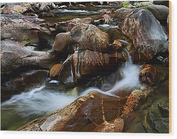The Potholes Wood Print by Mike Farslow
