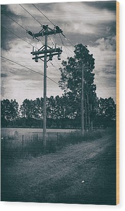 The Power Lines  Wood Print by Howard Salmon