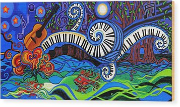 The Power Of Music Wood Print by Genevieve Esson