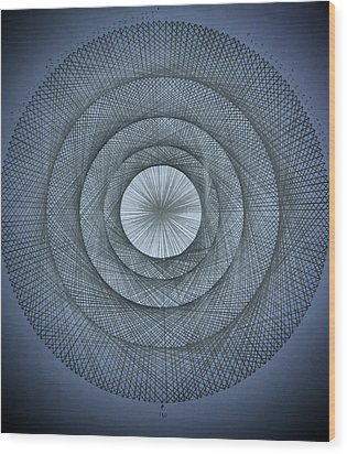 The Power Of Pi Wood Print by Jason Padgett