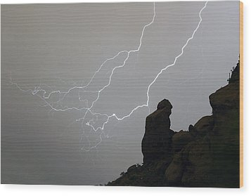 The Praying Monk Lightning Storm Chase Wood Print by James BO  Insogna