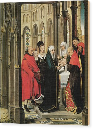 The Presentation In The Temple Wood Print by Hans Memling