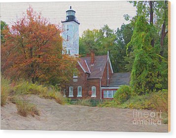 The Presque Isle Lighthouse Wood Print