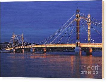 The Prettiest Bridge In Town. Wood Print by Pete Reynolds