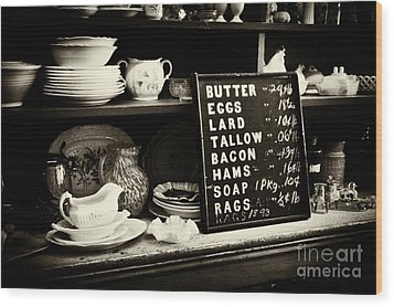 The Price List Wood Print by Paul W Faust -  Impressions of Light