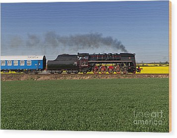 The Pride Of The Czech Locomotive Design Wood Print by Christian Spiller