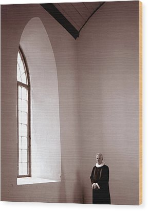 The Priest  C# 42 Wood Print by Viggo Mortensen