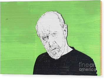 the Priest on Green Wood Print by Jason Tricktop Matthews