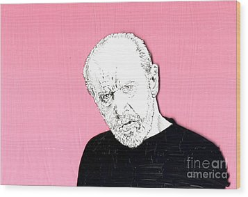 The Priest On Pink Wood Print by Jason Tricktop Matthews