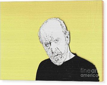 The Priest On Yellow Wood Print by Jason Tricktop Matthews