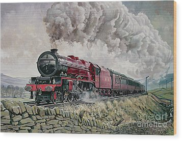 The Princess Elizabeth Storms North In All Weathers Wood Print by David Nolan