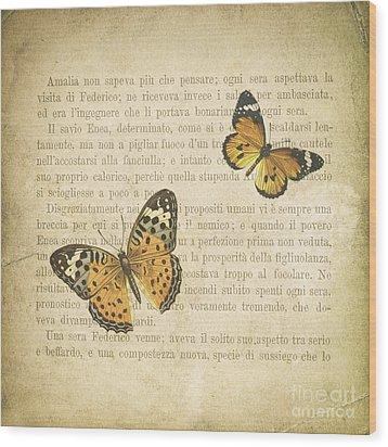 The Printed Page 8 Wood Print by Jan Bickerton