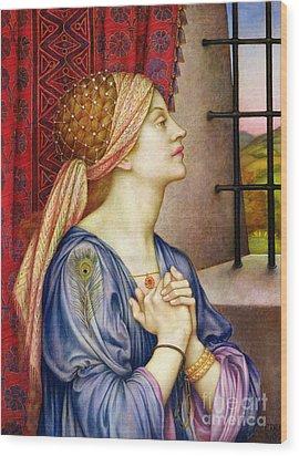 The Prisoner Wood Print by Evelyn De Morgan