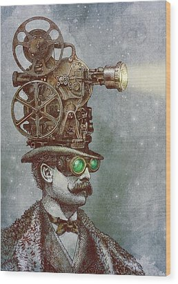 The Projectionist Wood Print by Eric Fan