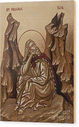 The Prophet Elijah Wood Print by Olimpia - Hinamatsuri Barbu