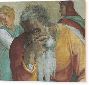 The Prophet Jeremiah Wood Print by Michelangelo