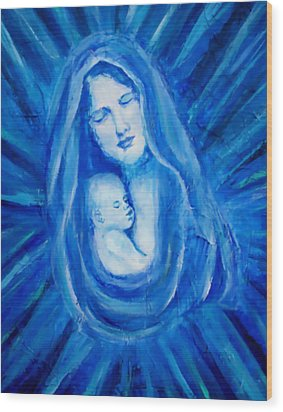 The Protecting Love Of A Mother And Her Child Wood Print by The Art With A Heart By Charlotte Phillips