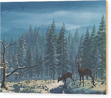 The Protector Wood Print by Ken Morris